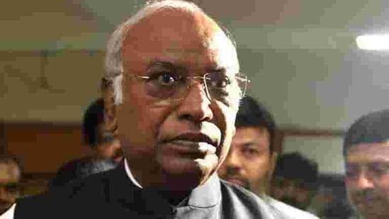 Leader of Opposition (LoP) in the Rajya Sabha, Mallikarjun Kharge. (Satish Bate/HT Photo)