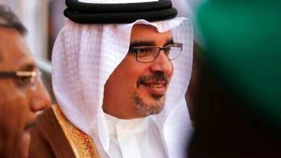 Bahrain Crown Prince Salman bin Hamad bin Isa Al Khalifa attends an event in Manama, Bahrain.(AP)