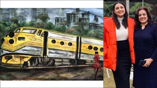Parineeti Chopra surprised as mother dedicates artwork on The Girl on The Train(Instagram/parineetichopra)