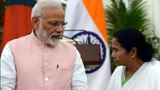 Prime Minister Narendra Modi, and West Bengal chief minister and TMC chief Mamata Banerjee. (HT archive)