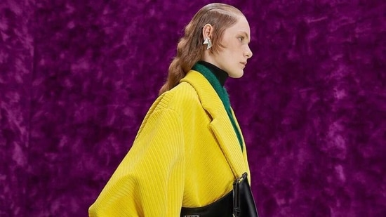 A model presents a creation from Prada's autumn/winter 2021-2022 collection.(Instagram)