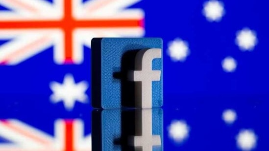 FILE PHOTO: A 3D-printed Facebook logo is seen in front of a displayed Australian flag in this illustration photo taken February 18, 2021. REUTERS/Dado Ruvic/Illustration/File Photo(REUTERS)