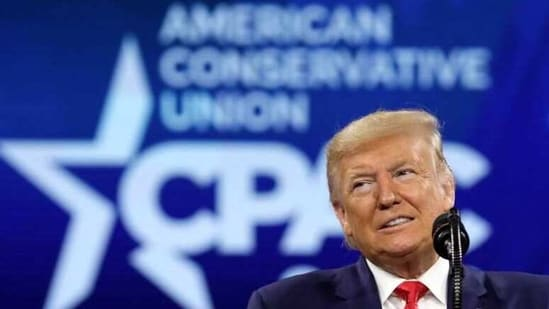 U.S. President Donald Trump addresses the Conservative Political Action Conference (CPAC) annual meeting at National Harbor in Oxon Hill, Maryland, U.S., February 29, 2020. REUTERS/Yuri Gripas(REUTERS)