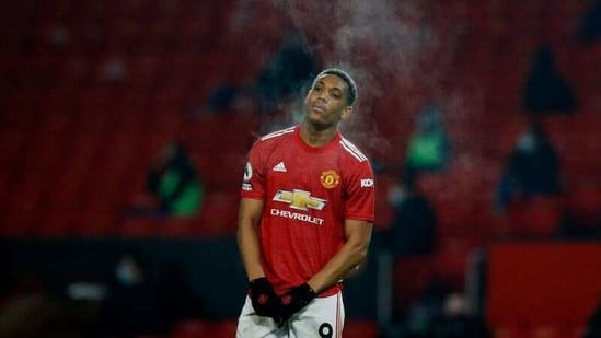 Soccer Football - Premier League - Manchester United v Southampton - Old Trafford, Manchester, Britain - February 2, 2021 Manchester United's Anthony Martial Pool via REUTERS/Phil Noble/Files(Pool via REUTERS)