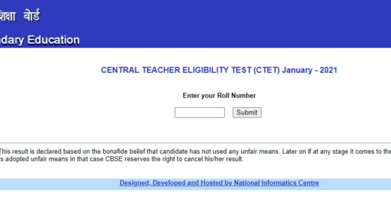 Candidates who have appeared in the CTET 2021 examination can check their results at ctet.nic.in.(ctet.nic.in)