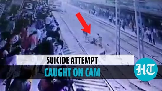 A suicide attempt was made on a railway track at Mumbai's Virar station