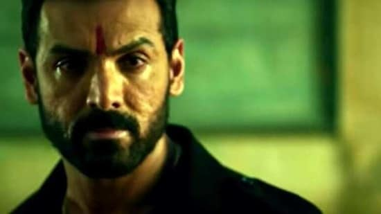 John Abraham as Amartya Rao in Mumbai Saga.