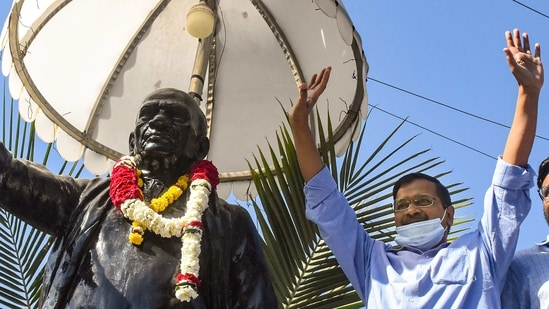 Kejriwal, whose party had scored a zero in the state in the 2014 Lok Sabha elections, was visiting Gujarat for the first time in seven years.(PTI)