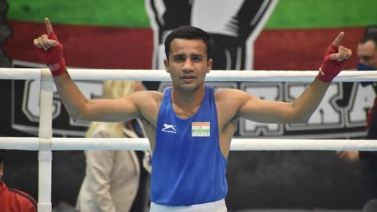 Indian boxer Deepak Kumar(HT Photo)