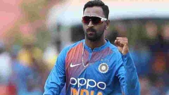 File photo of Indian all-rounder Krunal Pandya(Twitter)