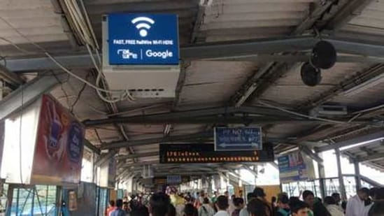 The company partnered with Alphabet Inc's Google in 2015 to bring free public WiFi to over 400 of the busiest railway stations in India by mid-2020.(HT Photo)