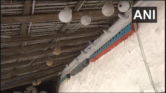 The image shows places for birds inside a room.(Twitter/@ANI)