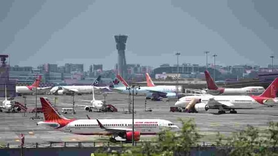 Indigo will resume its operations from T1, while most of its operations will be managed from Terminal 2, the base flights of the airlines will resume operations from Terminal 1.(Satish Bate/HT Photo)