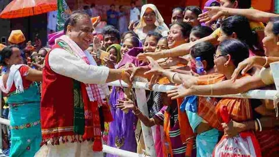 Assam BJP leader Himanta Biswa Sarma during an election rally ahead of Assam assembly polls. New political outfits that have formed in the past months are likely to add a regional dimension to the contest with the ruling Bharatiya Janata Party coalition and an alliance of six parties led by Congress. (PTI FILE PHOTO).