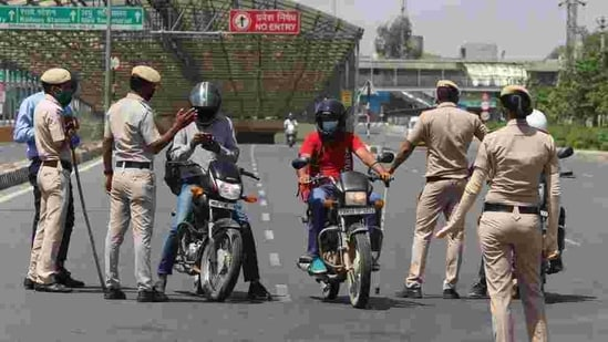 The police refuted the claims and said it has neither undertaken any such campaign and nor has circulated any information regarding the same.(Yogendra Kumar/HT file photo)
