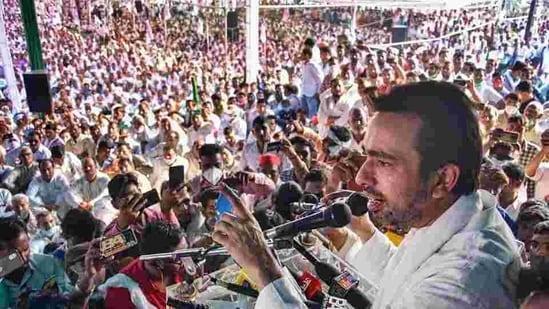 Rashtriya Lok Dal Vice-president Jayant Chaudhary addresses 'Kisan Panchayat'