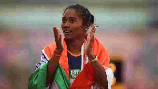 Hima Das(Getty Images for IAAF)