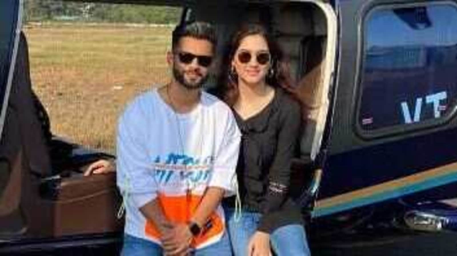 Bigg Boss 14 runner-up Rahul Vaidya takes girlfriend Disha Parmar on a helicopter ride, see here - Hindustan Times
