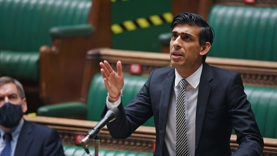 Britain's Chancellor of the Exchequer Rishi Sunak speaks at the House of Commons in London, Britain January 11, 2021. UK Parliament/Jessica Taylor/Handout via REUTERS THIS IMAGE HAS BEEN SUPPLIED BY A THIRD PARTY. MANDATORY CREDIT(via REUTERS)