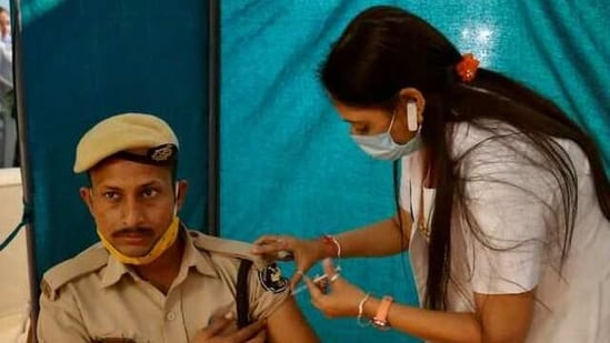 Ahead of the second phase of the vaccination drive from March 14,242,547 people have been inoculated against the coronavirus disease so far.(Reuters Photo)