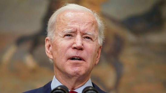 """""""We have no time to waste. If we act now, decisively, quickly and boldly, we can finally get ahead of this virus,"""" Biden said. (REUTERS)"""