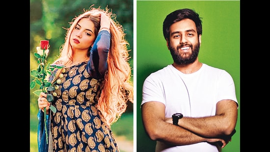 (From left) Islamabad resident Dananeer Mobin, 19, whose pawri/party video went viral and music producer Yashraj Mukhate, 25, whose pawri mash-up started trending