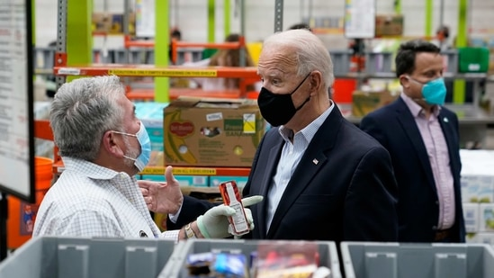 The major legislative priority for the Biden administration comes days after the coronavirus toll in the US crossed the 500,000 mark.(AP)