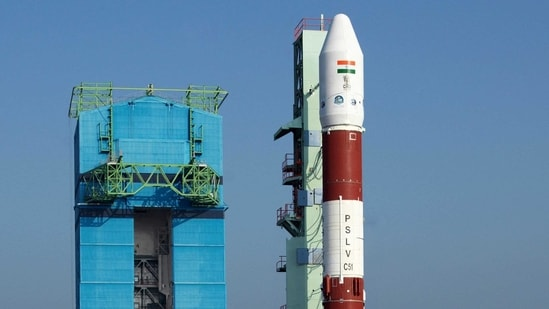 PSLV-C51 undergoing a launch rehearsal on Wednesday. (ISRO/Twitter)