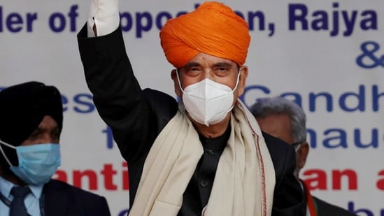 Ghulam Nabi Azad retired from the Upper House on February 15.(PTI)