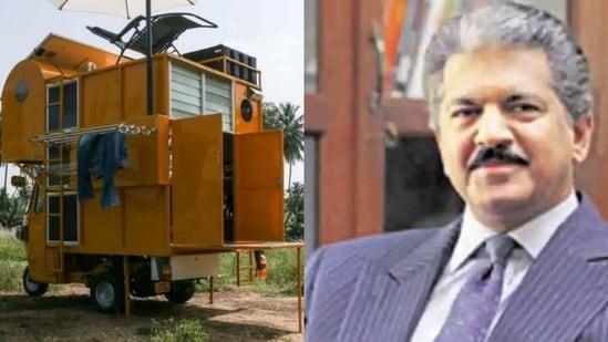 Anand Mahindra took to Twitter to appreciate architect Arun Prabhu NG's unusual creation.(Screengrab)