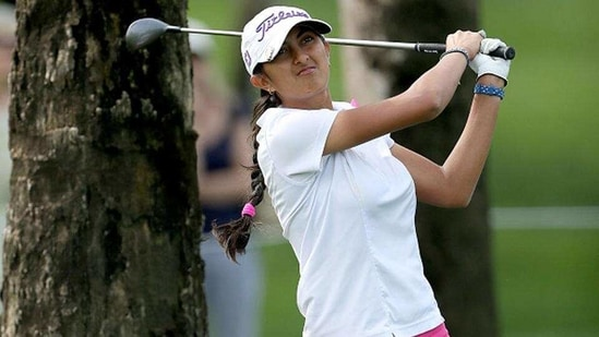 Aditi Ashok in action(Getty Images)