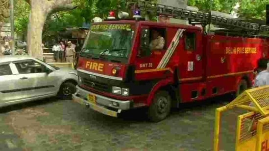 A fire broke out at a factory in Delhi's Pratap Nagar area on Saturday morning. (ANI Photo)