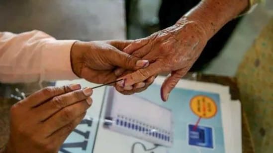 Officials said that Covid-19 patients can vote during the last hour of polling following laid down guidelines.(PTI)