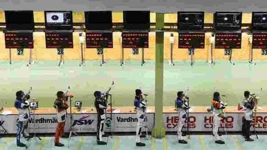 File photo of Karni Singh Shooting range(HT Photo)