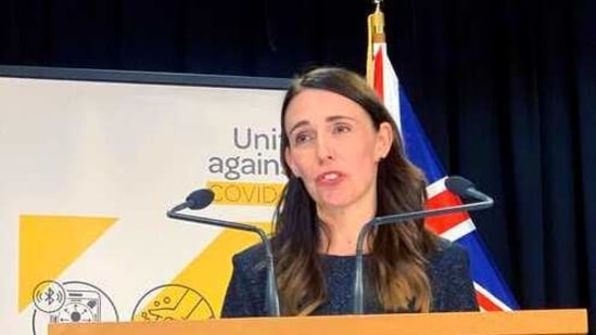 Jacinda Ardern said Auckland's nearly 2 million residents will be put under a 7 day lockdown starting Sunday. (AP Photo/Nick Perry)(AP)