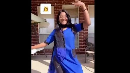 The image shows Aishwarya dancing.(Instagram/@aishuadd)