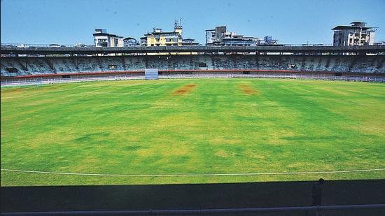 The renovated Dadoji Konddev Stadium in Thane. (Praful Gangurde / HT Photo)