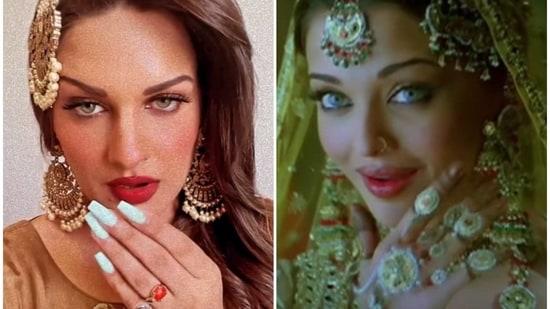 Himanshi Khurana recreated Aishwarya Rai Bachchan's song.