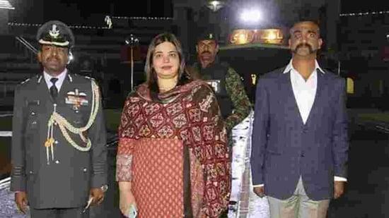 Indian Air Force (IAF) pilot Wing Commander Abhinandan Varthaman returned home on 1 March via the heavily-guarded Wagah-Attari border post(PTI)