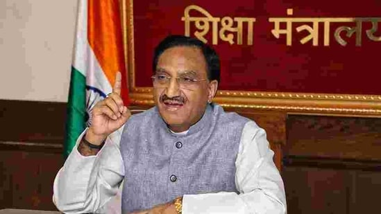 """Education Minister Ramesh Pokhriyal who was addressing the 97th annual convocation of Delhi University, said the new education policy that has been brought into place after """"much deliberation"""" will see India """"reform, perform and transform"""".(PTI file)"""