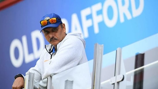 India head coach Ravi Shastri looks on. (Getty Images)