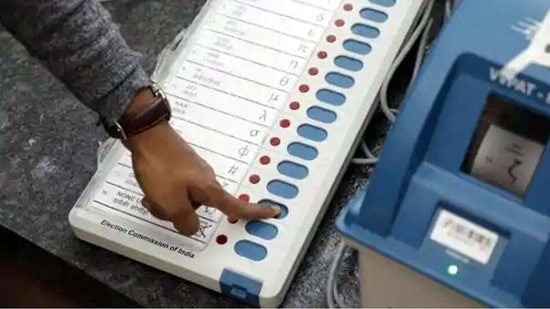 The average voting percentage across all these local bodies together was around 60.26 per cent, it said.(HT Photo )