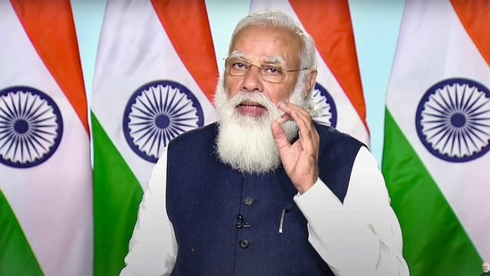 Prime Minister Narendra Modi on Monday outlined that the country now has to step out from an import-dependent status and fast track its defence manufacturing capabilities. (PTI Photo)(PTI)