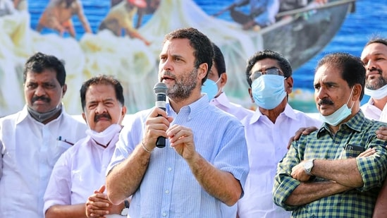 During this address, the Congress leader also talked about his party's vision to decentralise education and make it accessible to all.(PTI)