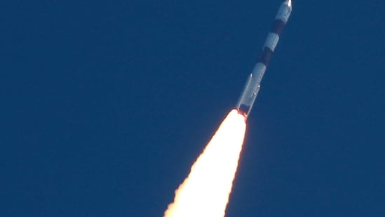 Isro's PSLV-C51, carrying Brazile's Amazonia-1 and 18 other satellites, lifts off from the Satish Dhawan Space Centre in Sriharikota, on Sunday.(PTI Photo)