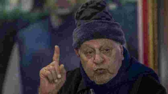 File photo: National Conference president and former J-K PM Farooq Abdullah. (HT Photo)
