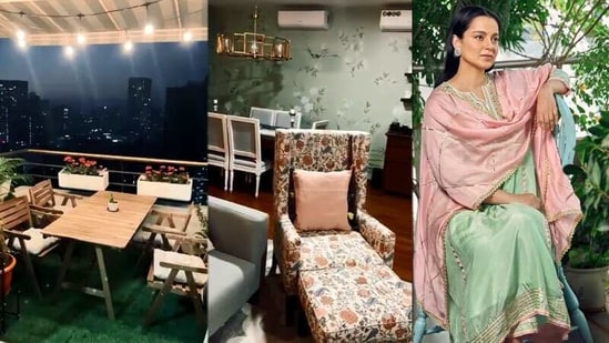 Kangana Ranaut's parents' Mumbai home which got a makeover from the actor.