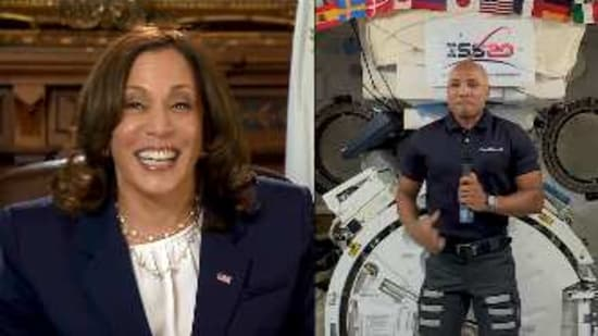 US Vice President Kamala Harris in a conversation with astronaut Victor Glover.(Instagram/@NASA)