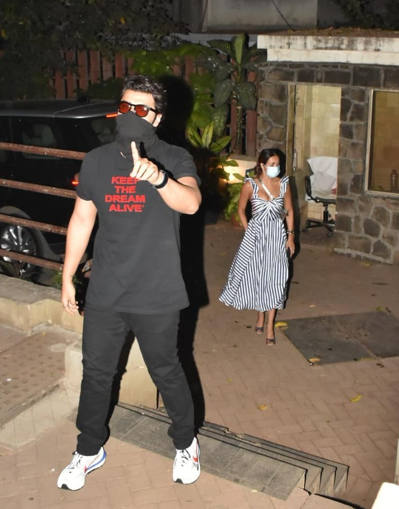 Arjun Kapoor at Saif Ali Khan and Kareena Kapoor Khans residence.(Varinder Chawla)