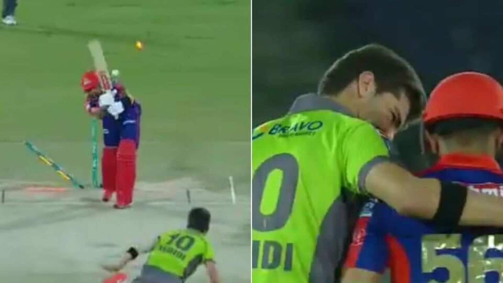 PSL 2021: Shaheen Shah Afridi hugs Babar Azam after knocking him over in style - WATCH - Hindustan Times